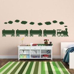 Quality vinyl wall decal for sale. Train Wall Decal