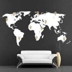 map vinyl wall decal