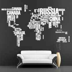 World map vinyl wall decal with pins cutzz world map wall vinyl decal gumiabroncs Image collections