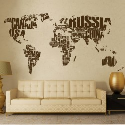 World map decals for walls with pins cutzz countries of the world map vinyl wall sticker gumiabroncs Image collections