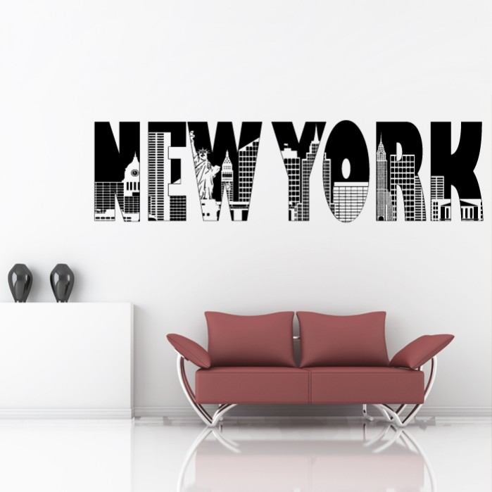 New York Sticker Home Decor Cutzz