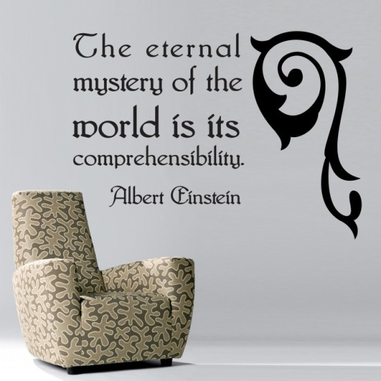 Albert Einstein Quote Wall Decal