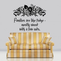 Families Are Like Fudge Wall Decal