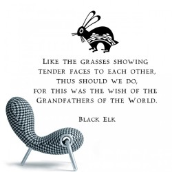 Quote by Black Elk Wall Decal