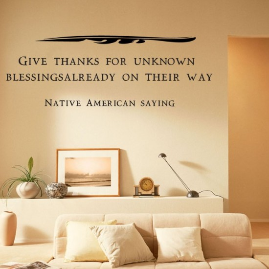 Native American Saying Wall Decal