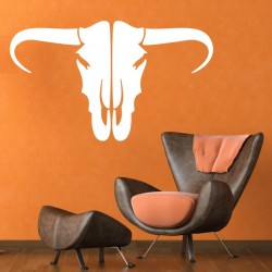 Bull Head Wall Decal