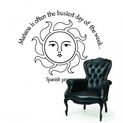 Spanish Proverb Wall Decal