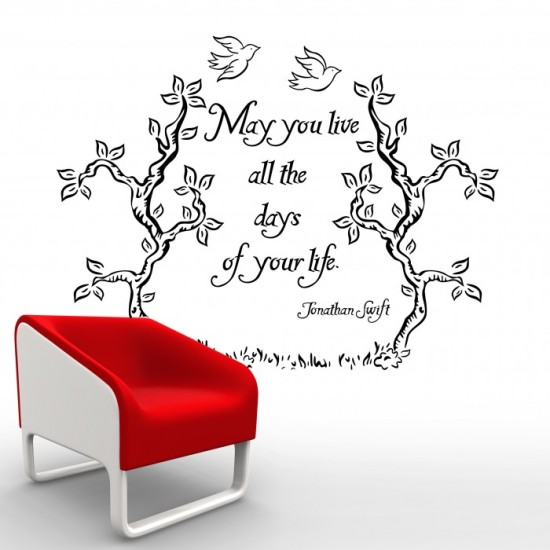 Jonathan Swift Quote Wall Decal