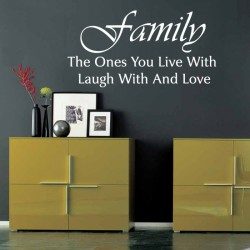 Quote About family wall decal