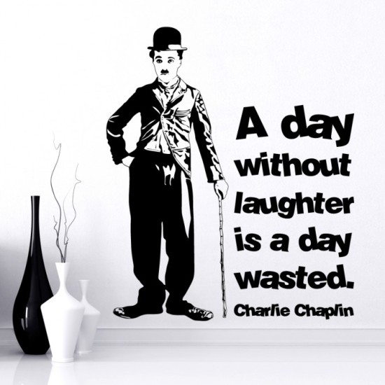 Charlie Chaplin Quote Wall Decal
