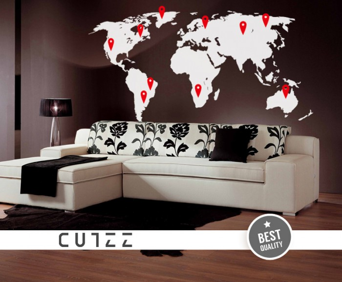 World Map Decal For Wall With Pins on map frame, map tile, map accessories, map tube, map guide, map design, map panel, map stencil, map clock, map engraving, map paper, map emblem, map clip, map decor, map tool, map wallpaper, map graphics, map of ireland counties, map laptop stickers,