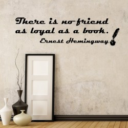 Ernest Hemingway's Quote Wall Decal