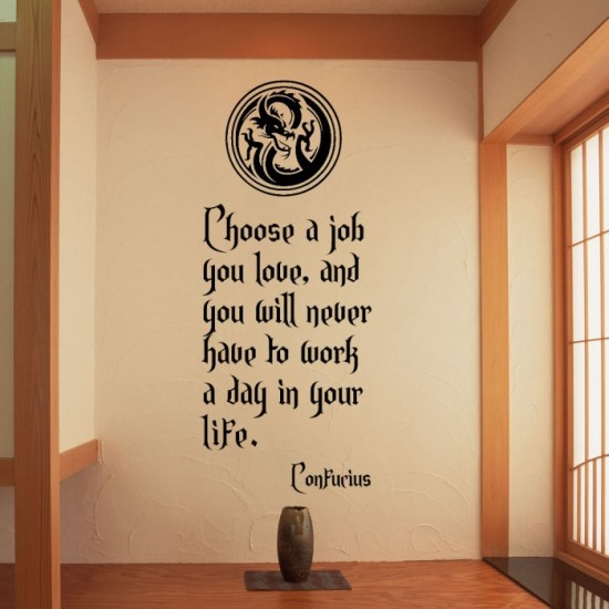 Confucius's Quote Wall Decal