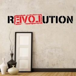 Love Revolution Wall Decal