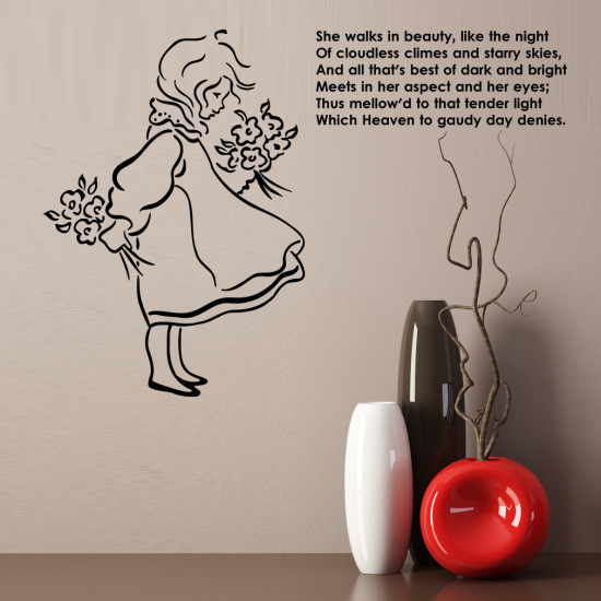 She Walks in Beauty by Lord Byron Wall Decal