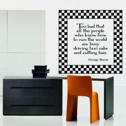 George Burns Quote Wall Decal