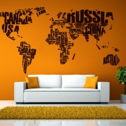 Maps Wall Decals - Cutzz