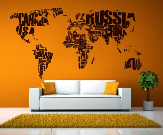 map wall sticker