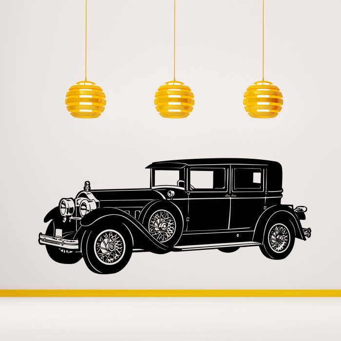 1930u0027s Mafia Retro Car Wall Sticker