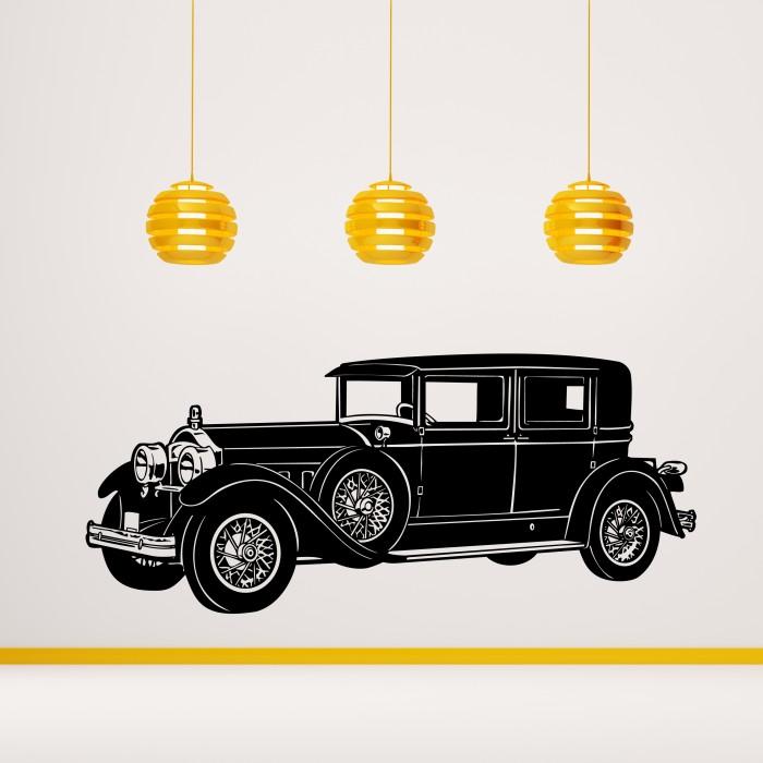 1930u0027s Mafia Retro Car Wall Sticker