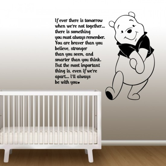 Pooh's Quote Wall Decal