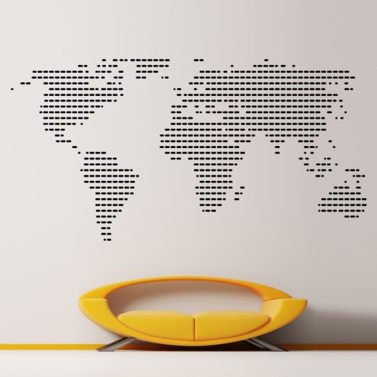 Vinyl Wall Mural World Map