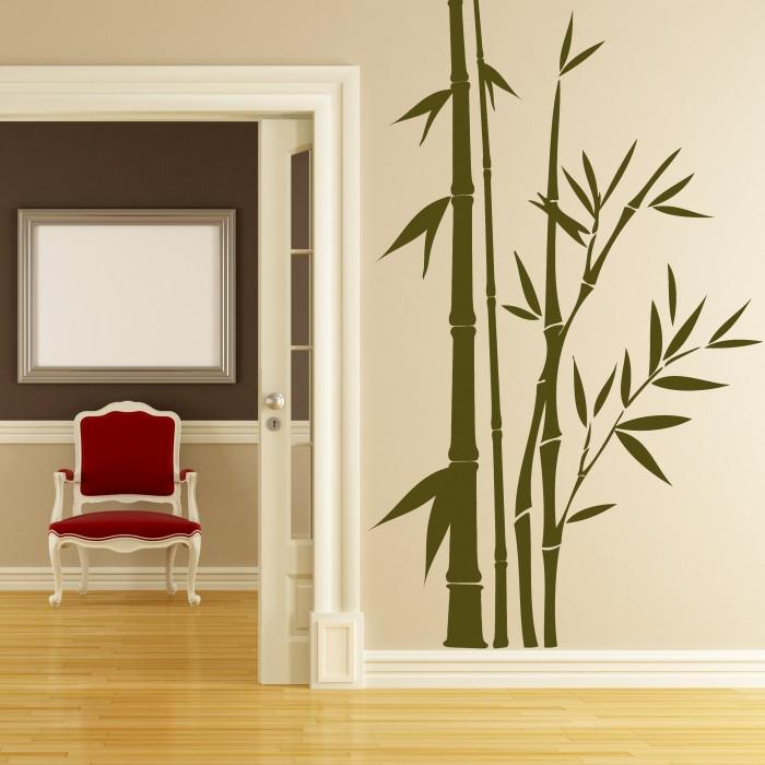 Bamboo sticks vinyl wall sticker cutzz
