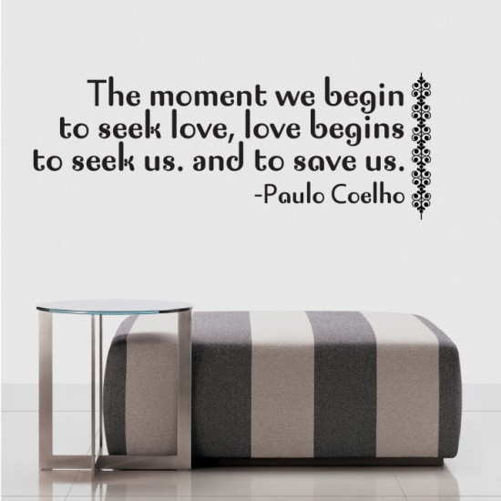Paulo Coelho Quote Wall Decal