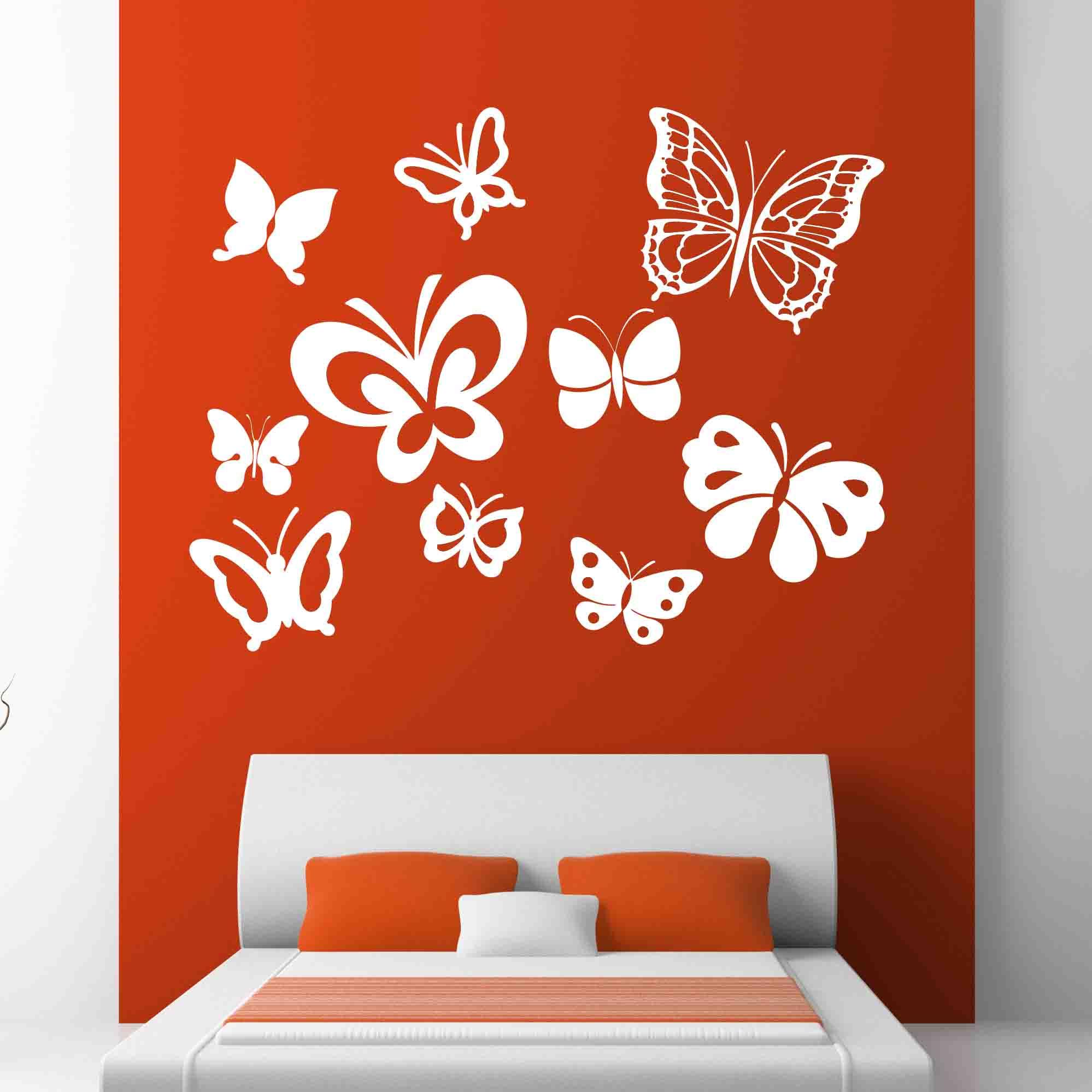 Butterflies wall mural cutzz for Butterfly wall mural