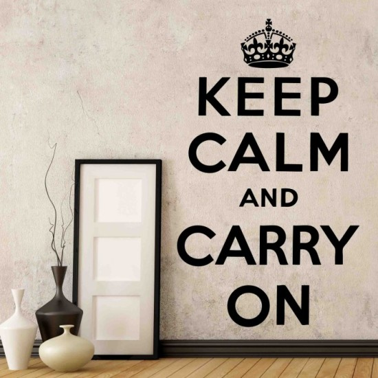 Keep Calm Wall Decor