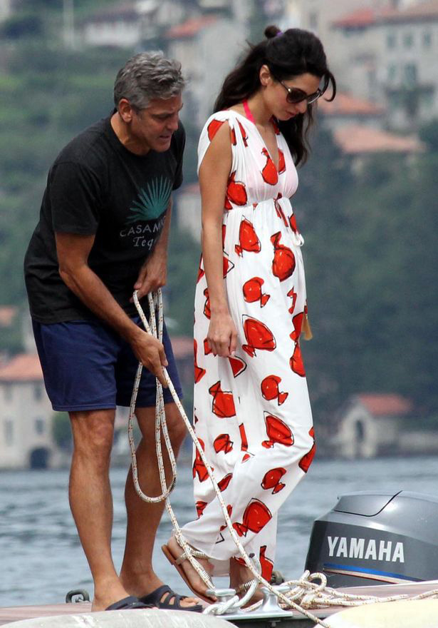 Amal Alamudin and George Clooney